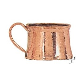 Turkish Copper Marash Mug with Copper Handle (Small)
