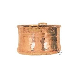 Turkish Copper Round Planter with Handles (Large)