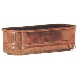 Turkish Copper Lugless Oval Planter (Small)