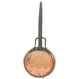 Turkish Copper Frying Pan with iron Handle (No: 2)