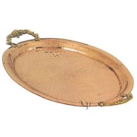 Turkish Copper Oval Tray with Handles (No: 2)