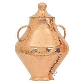 Turkish Copper Jar with a Lid and Handles