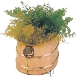 Turkish Copper Oval Flower Pot with Handles