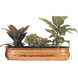 Turkish Copper Oval Planter (Large)