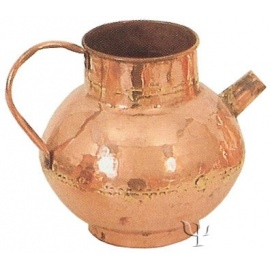 Turkish Copper Milk Pot with Copper Handle (Large)