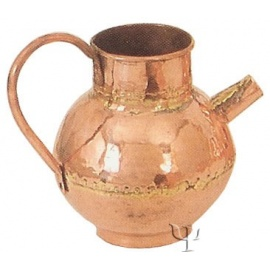 Turkish Copper Milk Pot with Copper Handle (Small)