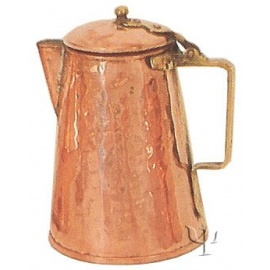 Turkish Copper Milk Pot with Brass Handle (Large)
