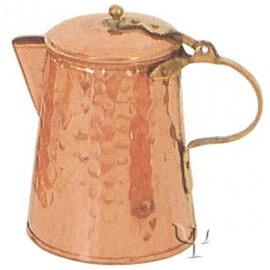 Turkish Copper Milk Pot with Brass Handle (Small)