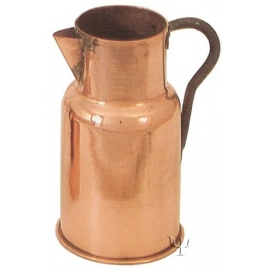 Turkish Copper Marash Milk Pot with iron Handle (Large)