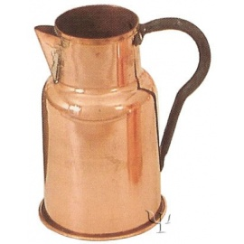 Turkish Copper Marash Milk Pot with iron Handle (Medium)