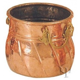 Turkish Copper Marash Flanged Cauldron (Medium)