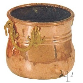Turkish Copper Marash Flanged Cauldron (Small)