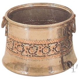 Turkish Copper Nickel Plated Repousse Copper Cauldron (No: 3)