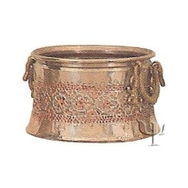 Turkish Copper Nickel Plated Repousse Copper Cauldron (No: 1)