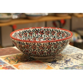 Iznik Design Ceramic Bowl - Carnation