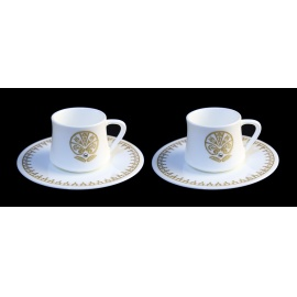 Fine Bone China Coffe Cup Set with Wooden Box
