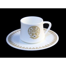 Fine Bone China Coffe Cup with Wooden Box