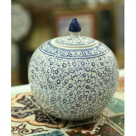 Iznik Design Ceramic Jar - Halic