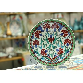 Iznik Design Ceramic Plate - Carnation