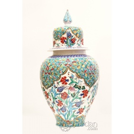 Iznik Design Ceramic Jar