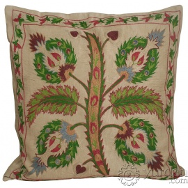 Silk Suzani Pillow Cover