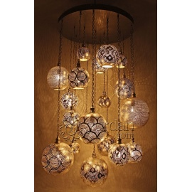 Alsahara Chandelier with 18 Globes