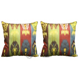 Silk Ikat Pillow Cover Set - FREE SHIPPING