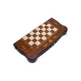 Intarsia Backgammon/Checkers Box Set
