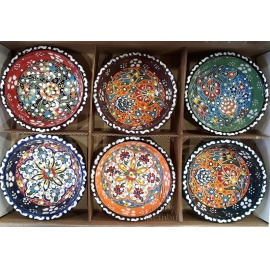 Iznik Design Ceramic Bowl Set - FREE SHIPPING