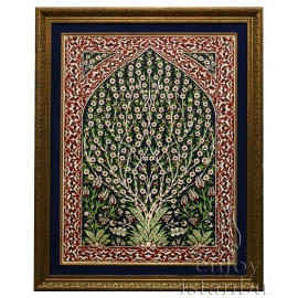 Iznik Tile Panel with Frame - FREE SHIPPING