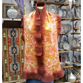 Turkish Silk and Felt Shawl