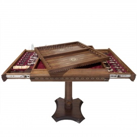 Chess & Backagammon Table Set