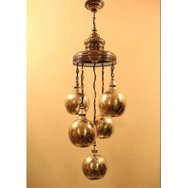 Alsahara Chandelier with 5 Globes