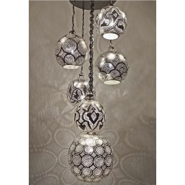 Alsahara Chandelier with 6 Globes
