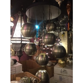 Ottoman Handmade Chandelier with 9 Globes