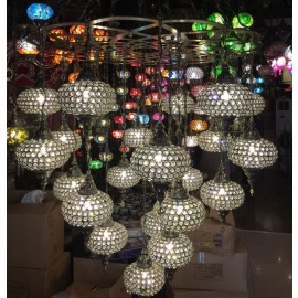 Ottoman Handmade Chandelier with 22 Globes