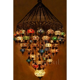 Mosaic Chandelier with 57 Globes - FREE SHIPPING