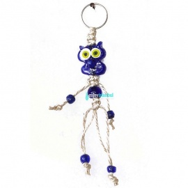 Turkish Evil Eye - Owl Keychain