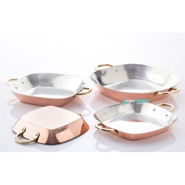 Copper Square Frying Pan