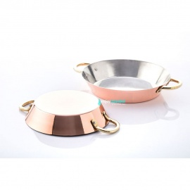 Copper Conical Frying Pan - Medium