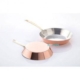 Copper Conical Frying Pan - Small