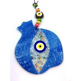 Turkish Evil Eye - Pomegranate Wall Decor