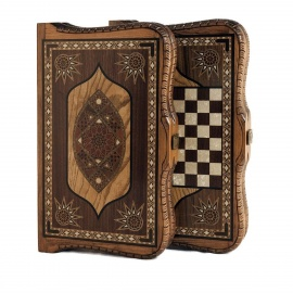 Turkish Intarsia Backgammon