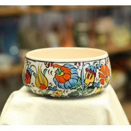 Iznik Design Ceramic Bowl - Spring Flowers