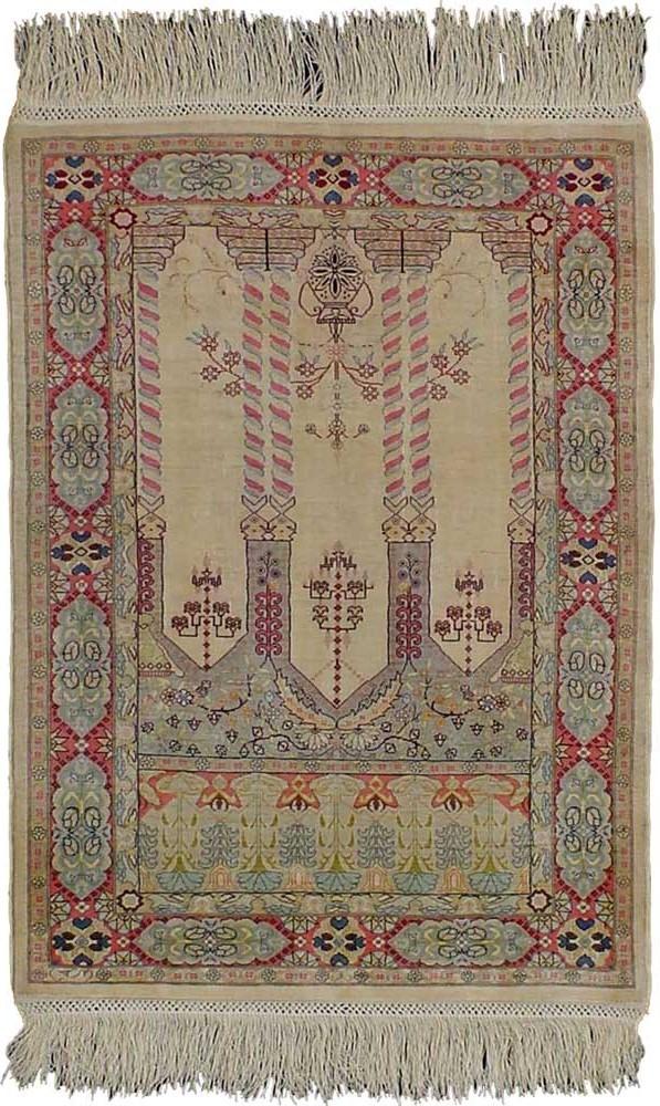 Turkish Rugs - Fine Hereke Silk Carpet
